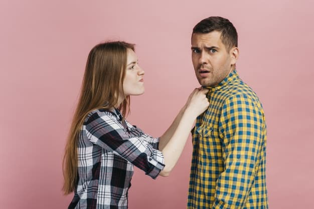 woman angry with man