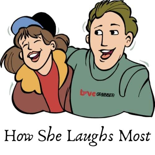 how she laughs the most