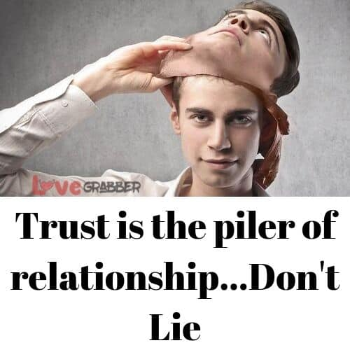 don't lie to your partner or the breakup is over