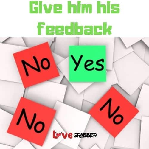 Give feedback to your partner